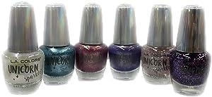 LA COLORS Brand New Nail Polish Unicorn Sparkle Set