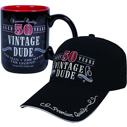 Vintage Dude 50 Hat and Coffee Mug