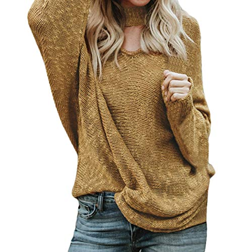 - Sherostore ♡ Womens Pullover Sweaters Plus Size Cable Knit V Neck Lace Up Batwing Sleeve Fall Jumper Tops Jumper Yellow