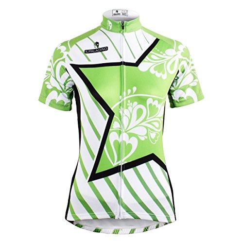 振るう矩形シェード[paladin] サイクルジャージ カジュアル 吸汗速乾 通気がいい レディース 夏用 スポーツ サイクルウェア