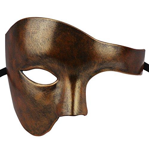 Phantom of The Opera Mask Venetian Masquerade Mask Vintage Half Face Masquerade Mask