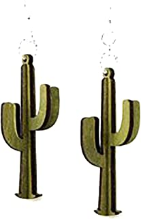 "product image for Green 3-D ""Cacti"" Laser Cut Earrings Made From Sustainably Harvested Wood"