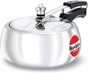 Hawkins HC35 Contura 3.5-Liter Pressure Cooker, Small, Aluminum
