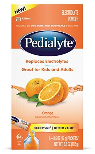 Pedialyte Large Powder Packs, Orange, .6 oz, 6 Count by Pedialyte