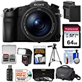 Cheap Sony Cyber-Shot DSC-RX10 III 4K Wi-Fi Digital Camera with 64GB Card + Battery & Charger + Case + Tripod + 3 Filters + Flash & LED Light + Kit