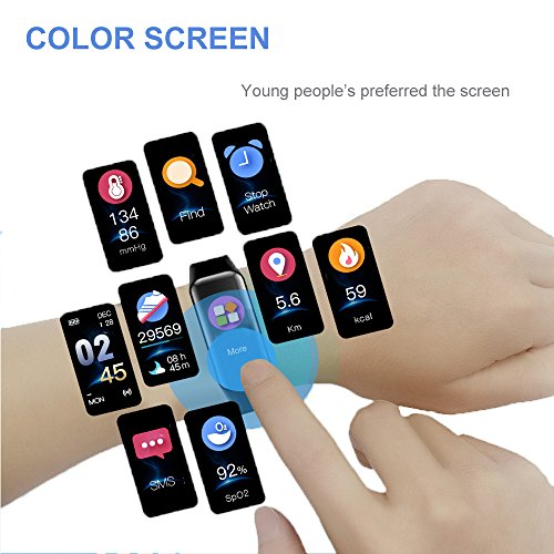 Holidayer C1 Fitness Tracker, Color Screen Activity Tracker Watch