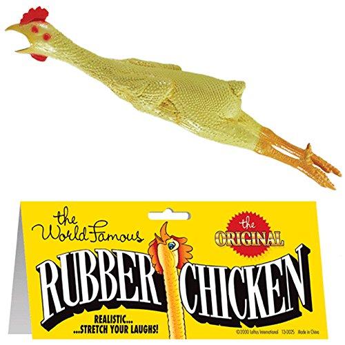 12 Pieces (1 Dozen) Bulk Lot Chickens / Original World Famous Novelty Yellow Rubber Chicken by Novelties company (Image #1)