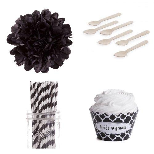 Dress My Cupcake DMC98169 Personalized Dessert Table Party Kit, Spanish Tile, Quatrefoil, Bride Heart Groom