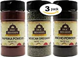Smoked Spanish Paprika Powder 3 Pack Mexican Cooking Bundle - Paprika, Cut & Sifted Mexican Oregano And Ground Ancho Chiles Great For Tacos, Rubs, Pork, Mole, Fajitas, Menudo, Chorizo by Ole Mission