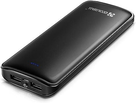 Powerbank 15600 mAh de CoolReall, batería externa, 2 puertos USB ...
