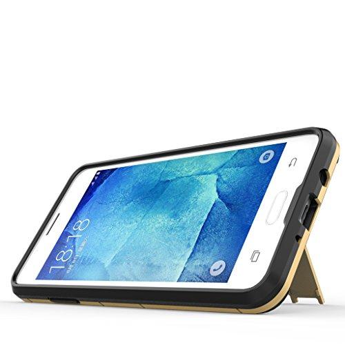 Samsung Galaxy S9 Plus Funda - Doble Capas Cáscara Silicona Híbrida Protectora Heavy Duty Blindaje Dura Cubierta Posterior con Soporte para Samsung Galaxy S9 Plus - Negro Gris