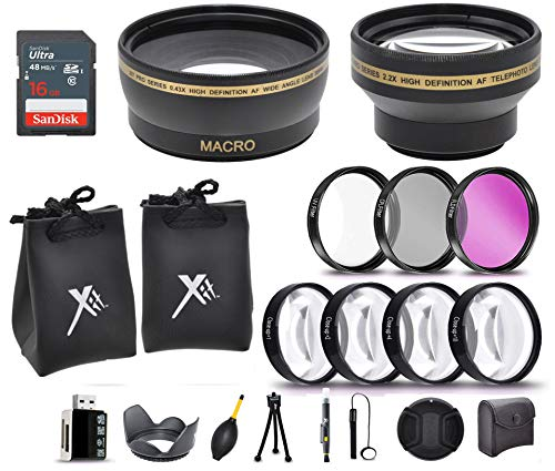 """58 MM PROFESSIONAL LENS & FILTERS ACCESSORY KIT FOR CANON LENSES,""""20 ACCESSORIES"""""""