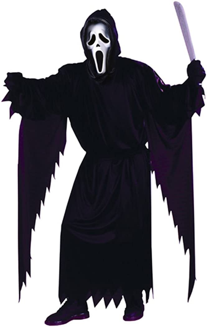 FunWorld Adult Scream Ghost face Costume, Black, One Size 71buJQiVeiL