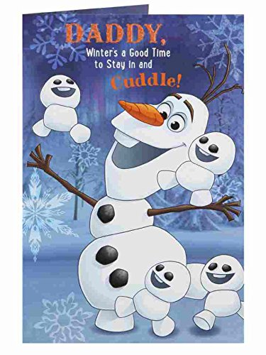 Disney's Frozen Olaf Daddy New Christmas Greeting Card Disney Themed Christmas Cards