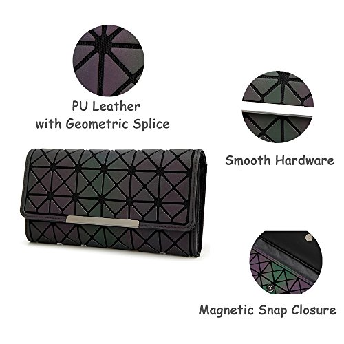 Evening Party Purse Luminous Women Fashion Leather Handbag Pink Geometric Clutch for Wallet Envelope PyttzTqwC