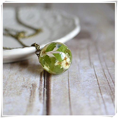 Fleur Necklace-bridal Couronne Blossom Maidenhair Fern-botanical, véritables Bijoux de collier de fleurs,