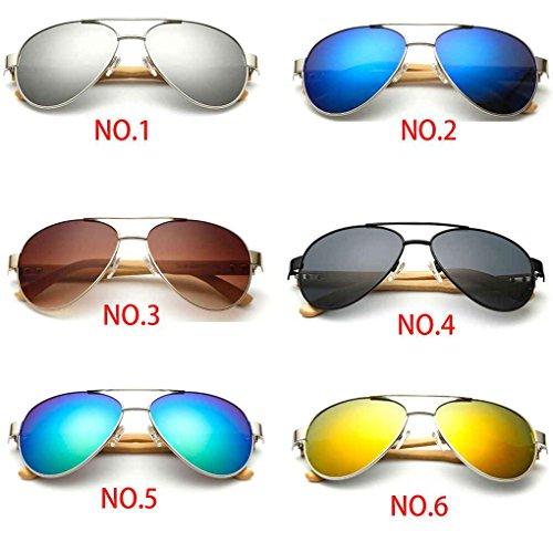 Hulotte Sonnenbrillen Sonnenbrillen Schutz Republe UV400 Beine Objektiv Lentille Resin Metallrahmen Unisex Sonnenbrillen Bambus wFIqIv7R