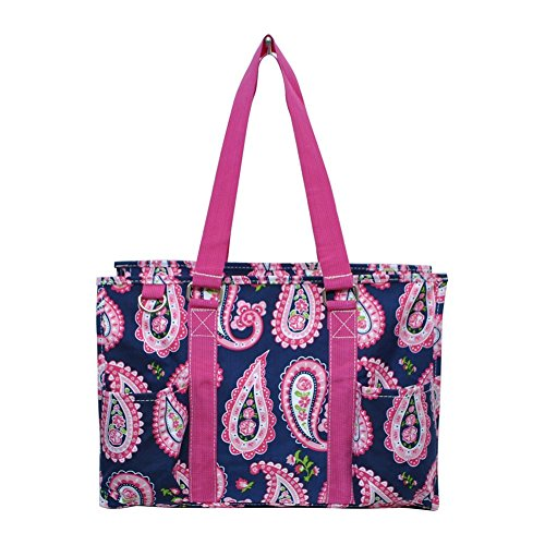 N Gil All Purpose Organizer Medium Utility Tote Bag 3 (Paisley Hot Pink) (Bag Pink Paisley Diaper)