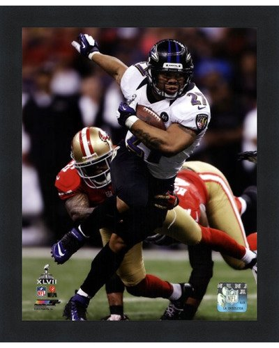 (Poster Palooza Framed Ray Rice Super Bowl XLVII Action- 8x10 Inches - Art Print (Classic Black Frame))
