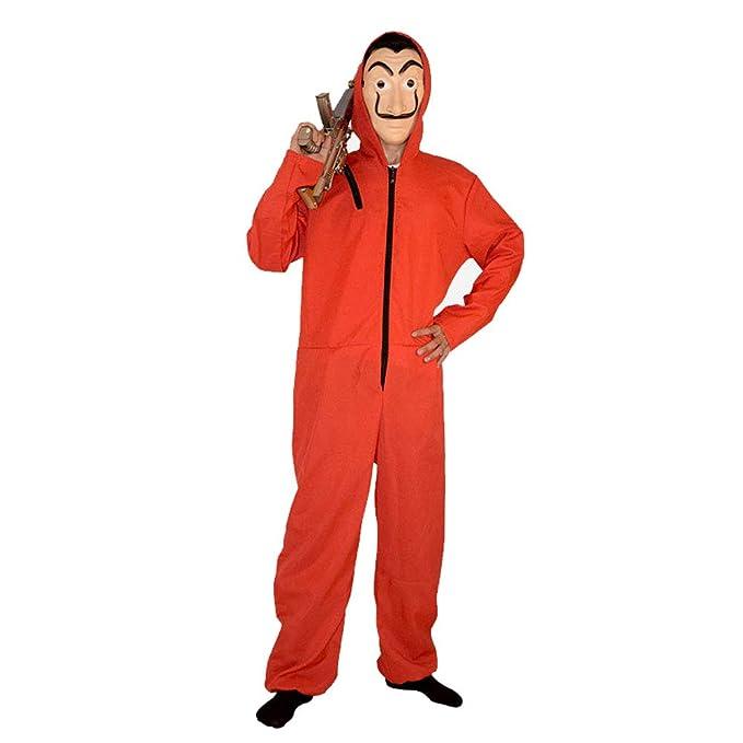 Moniku Salvador Dali La Casa De Papel Cosplay Movie Red Coverall Halloween Costume