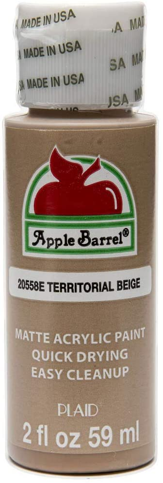 Apple Barrel Acrylic Paint in Assorted Colors (2 oz), 20558, Territorial Beige