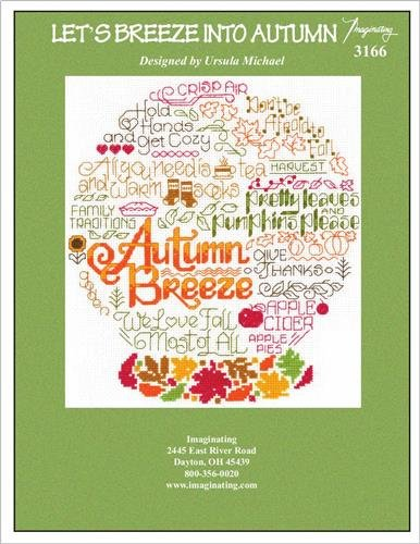 Let's Breeze Into Autumn (Model 3166) Cross Stitch Kit and Free Embellishment