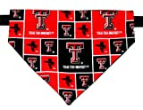 Over the Collar, Reversible Dog Bandana, Texas Tech, Bell Art Designs, Extra Large, DCXL0014