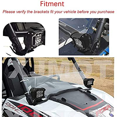 2pcs 4 Inch 18W LED Spot Light Pods with Rocker Switch Wiring Kit and A-pillar Roll Cage Mounting Brackets for Polaris RZR XP 1000 2014-2020 & RZR 900 2015-2020: Automotive