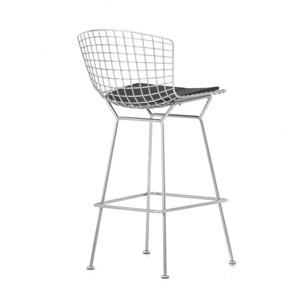 Barstuhl / Harry Bertoia / Knoll International / Sitzpolster schwarz / Designklassiker von Klingenberg