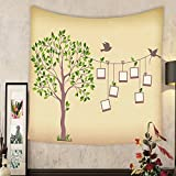 Madeleine Ellis Custom tapestry memories tree with photo frames insert your photos into frames