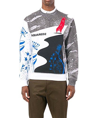 DSQUARED2 Men's Sweatshirt S71GU0204 - White, XXL (Mens Dsquared2 Clothing)