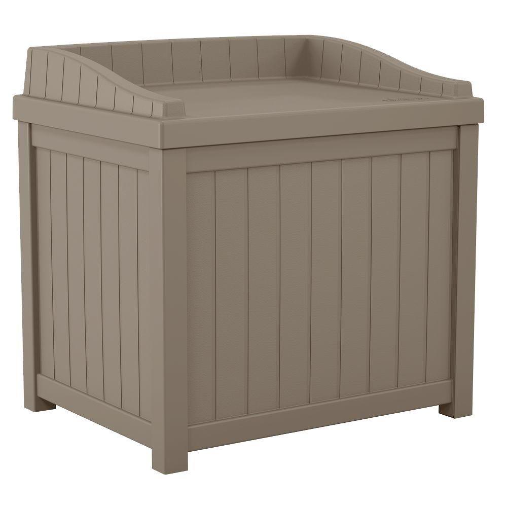 22 Gal. Resin Storage Seat Deck Box