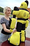 Giant Stuffed Robot - 3 Feet Tall Big Plush Fun Toy - Stuffed Soft - Non-mechanical - Yellow Color