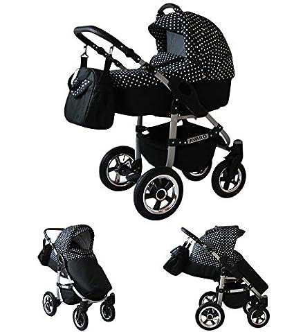 Babylux Avaro Cochecito de bebé combinado 3 en 1 - Cochecito ...