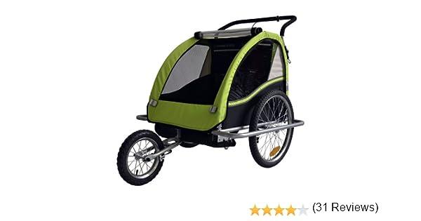 Remolque de bici para niños con kit de footing, color: LEMON ...