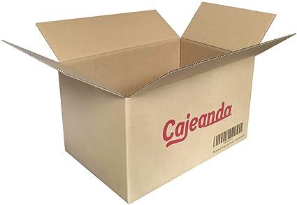 Pack de 20 Cajas de Cartón - Tamaño 430 x 300 x 250 mm - Canal Simple de Alta Calidad Reforzado y Resistentes - Fabricadas en España - Mudanza y ...