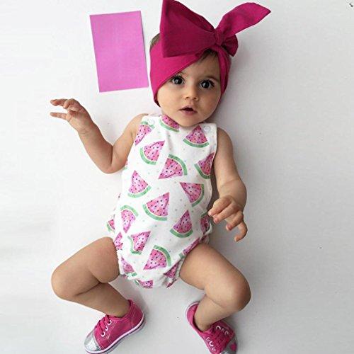 4e0bbce69 Minisoya Newborn Infant Baby Girl Watermelon Clothes Bodysuit Romper ...