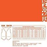Dan Smith DGEE0020-12 Red Boys Solid Waistcoat