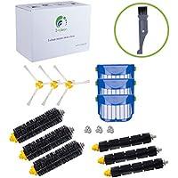 For iRobot Roomba 650, 690,655, 605,770,780,790 Robotic Vacuum Cleaner Replenishment Parts, I-clean 12 pcs Replacement Brush Accessories (600&700 Series),Bonus A Free Cleaning Brush