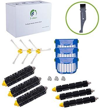I clean Replacement for iRobot Roomba 690,650, 605,770,780,790 Robotic  Vacuum Replenishment Parts,12 pcs Replacement Brush Accessories (600&700