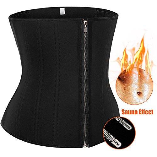 "U-Pretty Women's Neoprene Waist Trainer Cincher Underbust Corset Tummy Control Shapewear , Black#steel Bones, 2XL (Waist:32""-34"")"