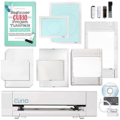 Silhouette Curio Digital Crafting Machine with Large and Small Tray and Deep Cut Blade
