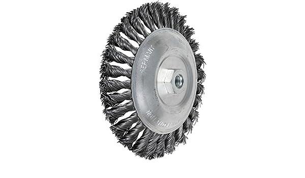 4 Diameter 0.020 Wire Size PFERD 82318 Knot Bevel Brush 20000 rpm 4 Diameter PFERD Inc. Stainless Steel Wire 5//8-11 Thread