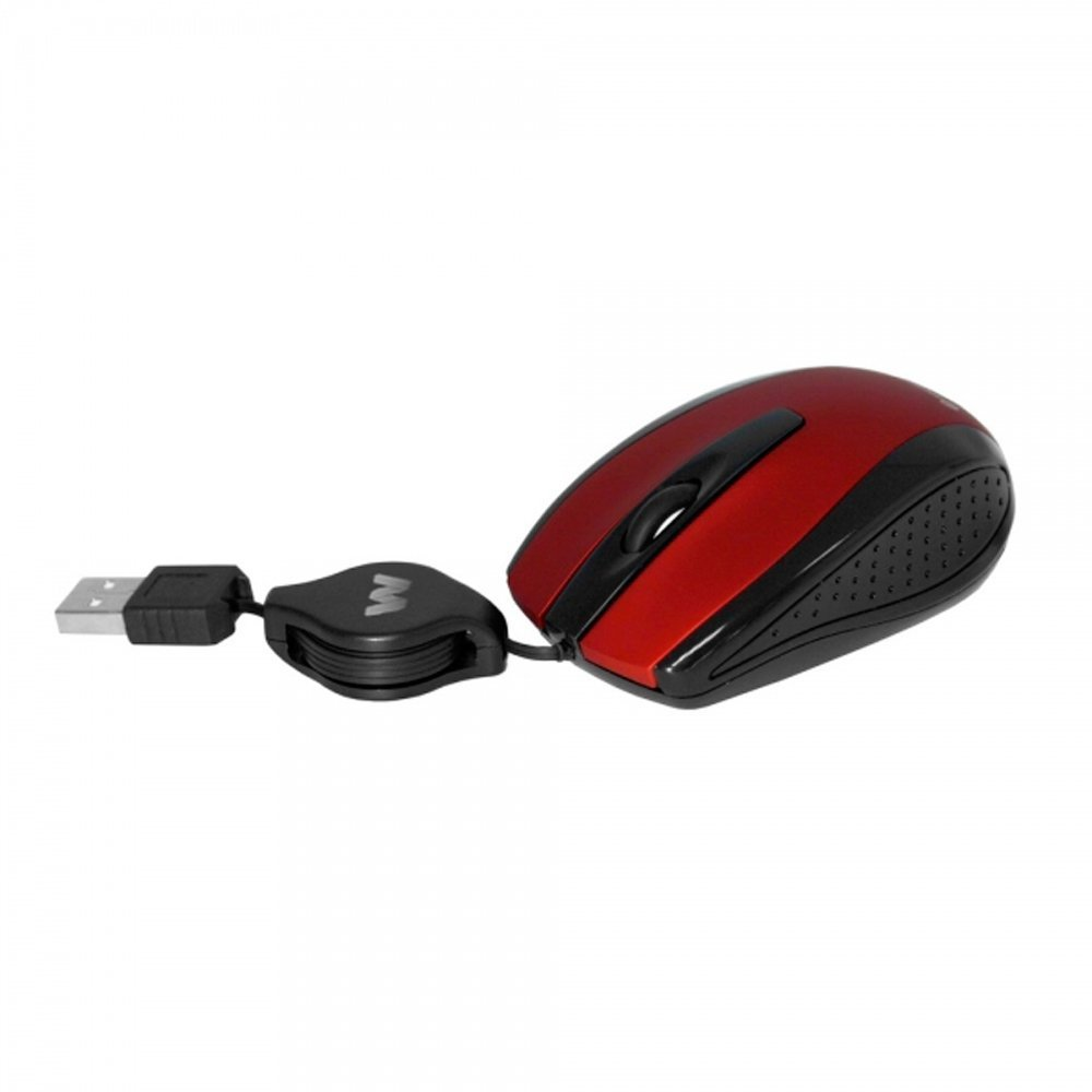 Woxter NETMOUSE V 120 RED RETRACTIL - Ratón óptico Retráctil, color rojo: Amazon.es: Informática