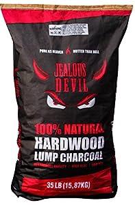 Jealous Devil Quebrancho Blanco Hardwood Lump Charcoal, 100% Natural, Restaurant Quality from Jealous Devil