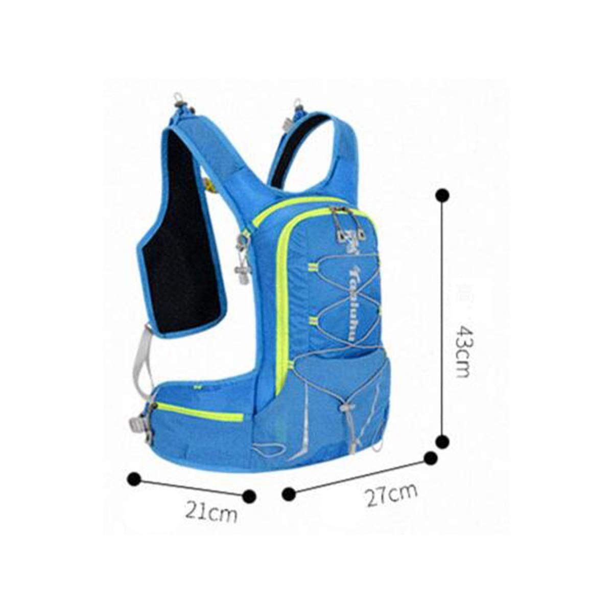 Male and Female Marathon Cycling Backpack Color : Blue Qingduqijian Vest Backpack Running Backpack Lightweight Small Capacity Hiking Backpack