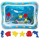 Tummy Time Baby Water Mat for 3 6 9 Months Tolders, Exercise N Play Free Splashing Toddler Inflatable Play Mat Early Development Activity Centers