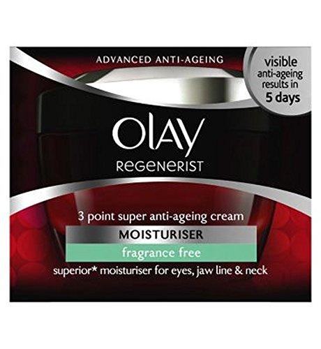 Olay Regenerist 3 Point Super Age-Defying Fragrance Free Moisturiser 50ml - オーレイリジェネ3ポイント超の年齢挑む無香料保湿クリーム50Ml (Olay) [並行輸入品]   B01M7Y9UQ0