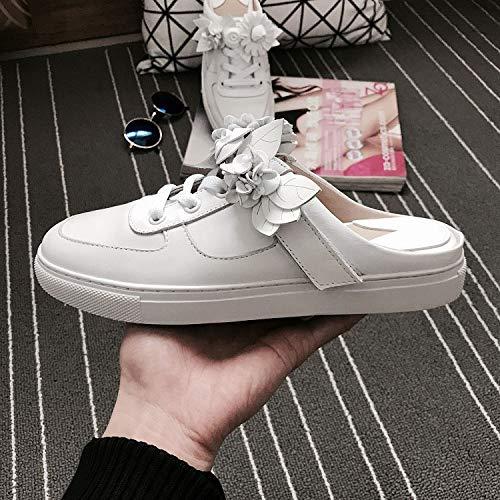 AIMENGA Zapatos Planos Casual Lace Zapatos De Mujer Nuevos Modelos Cool Small White Shoes Women Leisure white