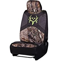 Bone Collector Low-Back Camo Bucket Seat Cover (Realtree AP Camo, Durable Polyester Fabric, Includes Headrest Cover, Sold Individually)
